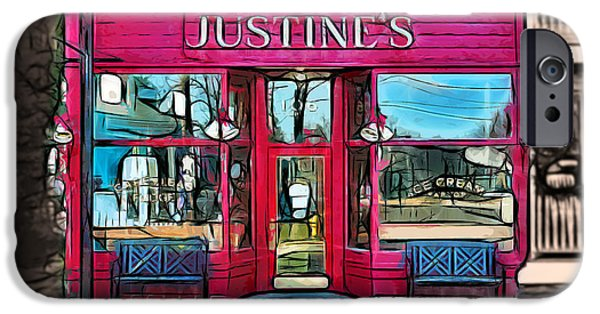 Sun Porch iPhone Cases - Justines Ice Cream Parlour iPhone Case by Stephen Younts