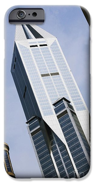 JW Marriott Tower in Downtown Shanghai iPhone Case by Jeremy Woodhouse