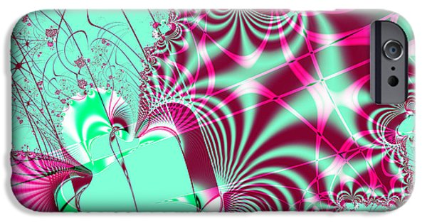 Algorithmic Digital Art iPhone Cases - Kabuki iPhone Case by Wingsdomain Art and Photography