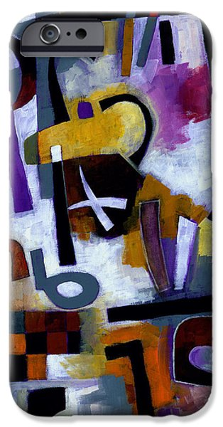 Abstracts iPhone Cases - Kaffeeklatsch iPhone Case by Douglas Simonson