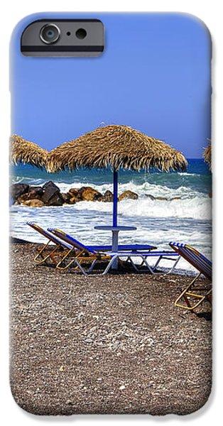 Kamari - Santorini iPhone Case by Joana Kruse