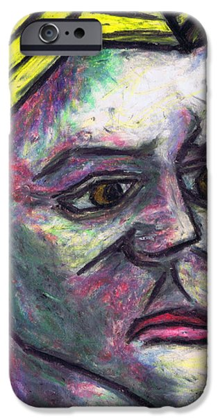 Expressionism Pastels iPhone Cases - Kamila iPhone Case by Kamil Swiatek