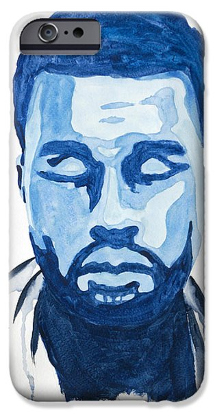 Jay Z Paintings iPhone Cases - Kanye West iPhone Case by Michael Ringwalt