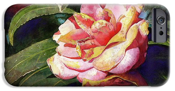 Camellia iPhone Cases - Karma Camellia iPhone Case by Andrew King