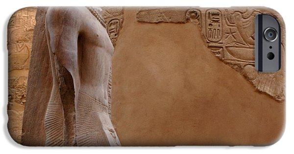Karnak iPhone Cases - Karnak Temple 2 iPhone Case by Bob Christopher