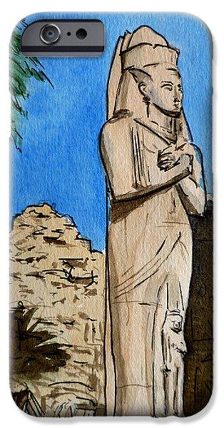 Karnak Temple Egypt iPhone Case by Irina Sztukowski