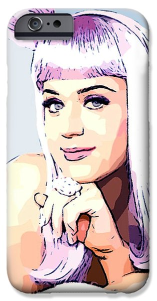 Katy Perry iPhone Cases - KATY PERRY - Cotton Candy Colored iPhone Case by Lauranns Etab