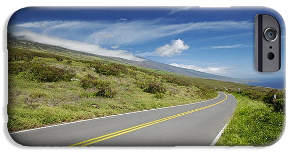 Asphalt iPhone Cases - Kaupo Open Road iPhone Case by Jenna Szerlag