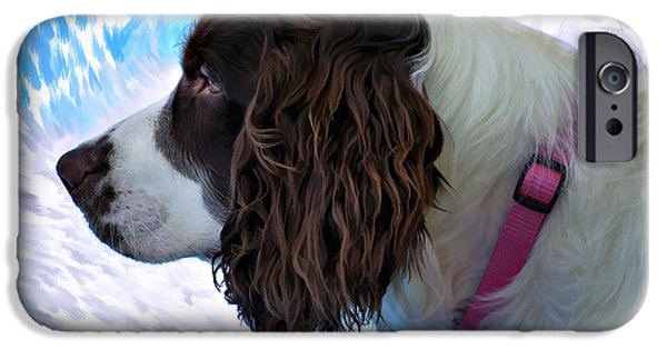 Dogs Digital Art iPhone Cases - Kaya paint filter iPhone Case by Steve Harrington