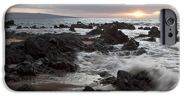 Wave Pattern iPhone Cases - Keawakapu Kahaulani Dew of Heaven Maui Hawaii iPhone Case by Sharon Mau