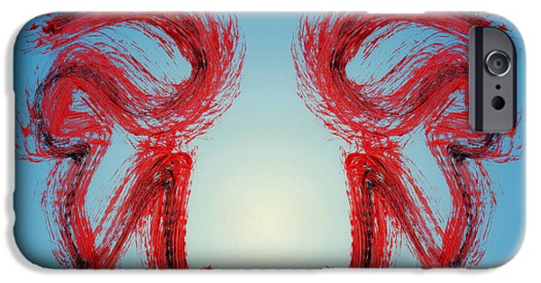 Swiss Mixed Media iPhone Cases - Keen Eye iPhone Case by Manuel Sueess