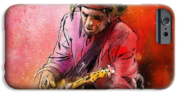 Keith Richards iPhone Cases - Keith Richards iPhone Case by Miki De Goodaboom