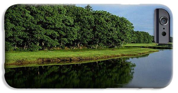 York County iPhone Cases - Kennebunk River Morning Light iPhone Case by Thomas R Fletcher