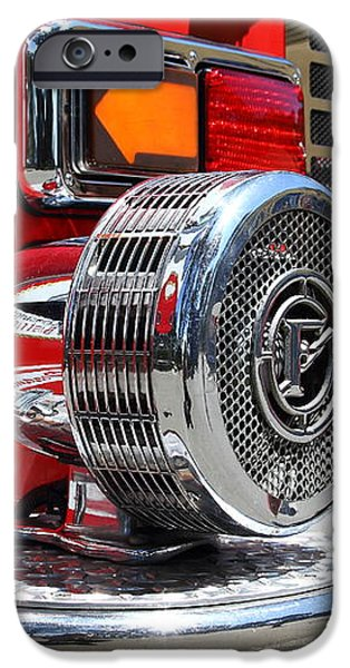 Kensington Fire District Fire Engine Siren . 7D15879 iPhone Case by Wingsdomain Art and Photography