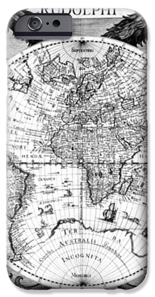 Keplers World Map, Tabulae iPhone Case by Science Source