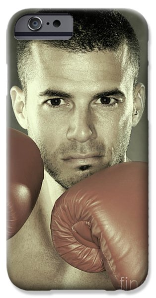 Kickboxer iPhone Case by Oleksiy Maksymenko