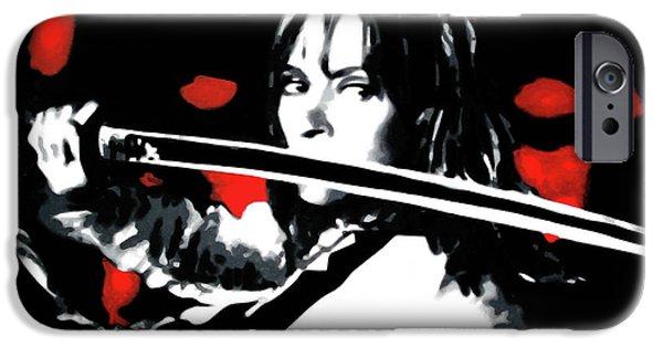 Kill Bill iPhone Cases - Kill Bill iPhone Case by Luis Ludzska