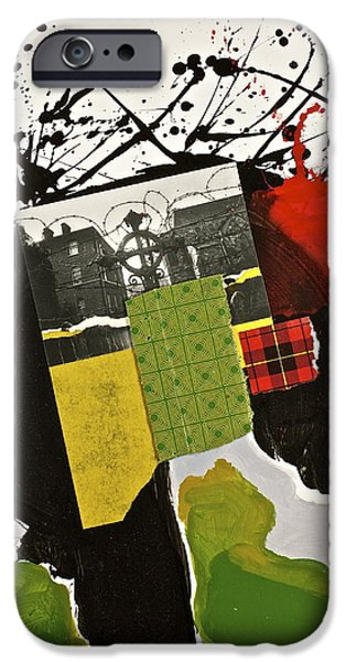 Cardboard Mixed Media iPhone Cases - Kilter iPhone Case by Cliff Spohn