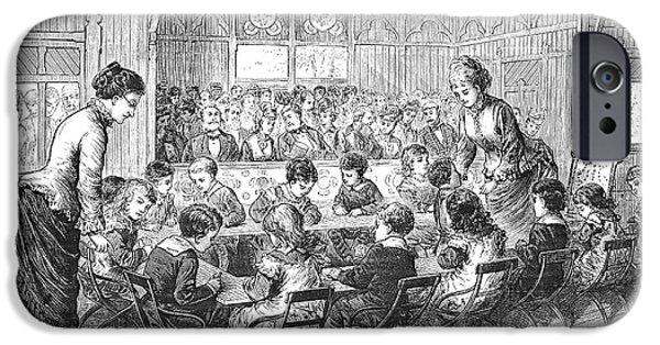 Schoolboy iPhone Cases - Kindergarten, 1876 iPhone Case by Granger