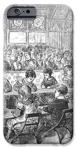 KINDERGARTEN, 1876 iPhone Case by Granger