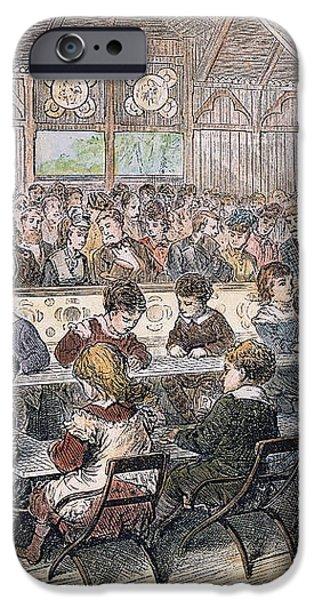 KINDERGARTEN COTTAGE, 1876 iPhone Case by Granger
