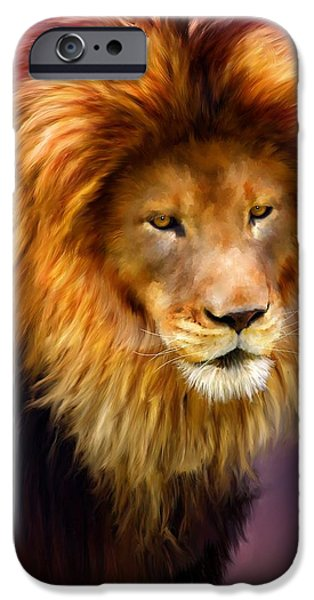 Pride Paintings iPhone Cases - King iPhone Case by Michael Greenaway