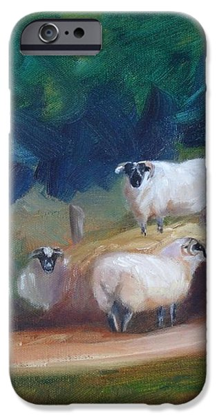 King of Green Hill Farm iPhone Case by Donna Tuten