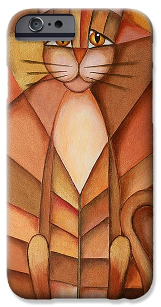 King of the Cats iPhone Case by Jutta Maria Pusl