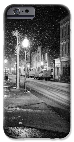 Snow iPhone Cases - King Street Charleston Snow iPhone Case by Dustin K Ryan