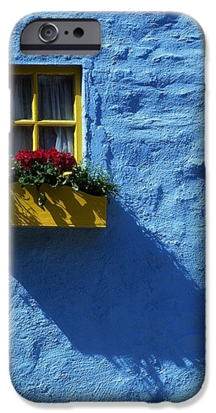 Kinsale, Co Cork, Ireland Cottage Window iPhone Case by The Irish Image Collection