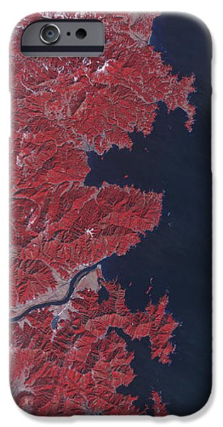 Kitakami River, Japan, Before Tsunami iPhone Case by National Aeronautics and Space Administration