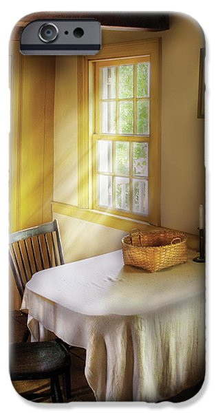 Kitchen - The empty basket iPhone Case by Mike Savad