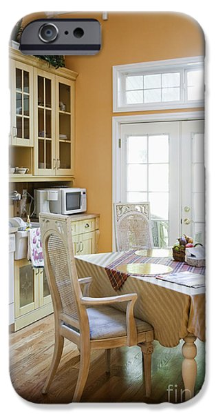 Kitchen Cabinets and Table iPhone Case by Andersen Ross