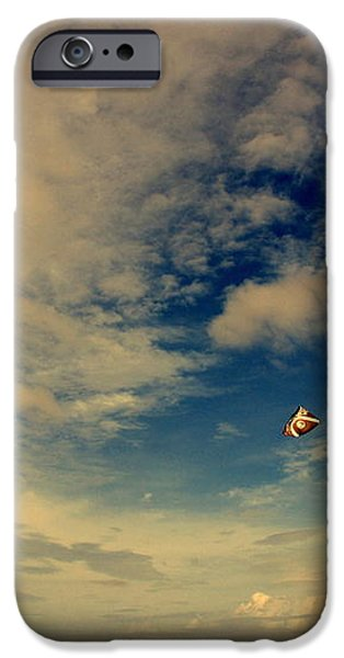 Kite at Folly Beach near Charleston SC iPhone Case by Susanne Van Hulst