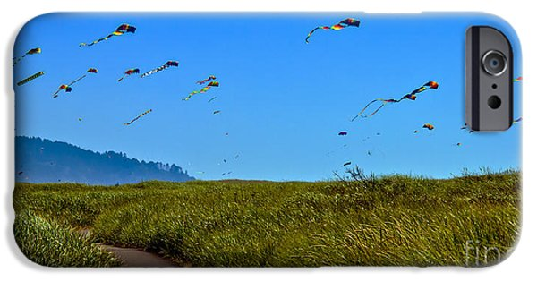 Haybale iPhone Cases - Kites iPhone Case by Robert Bales