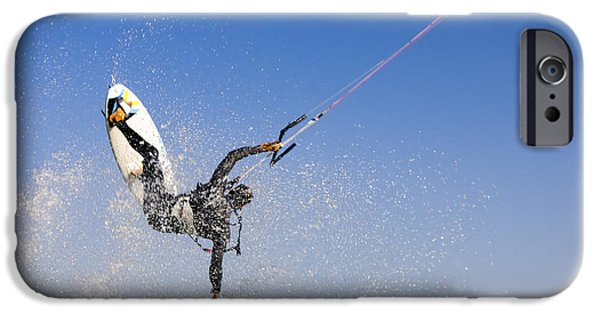 Kite Surfing iPhone Cases - Kitesurfing iPhone Case by Hagai Nativ