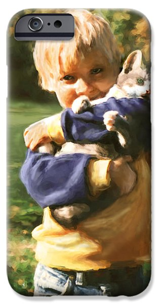 Bhymer iPhone Cases - Kitty Love iPhone Case by Barbara Hymer