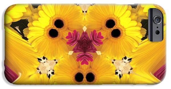 Yellow Images iPhone Cases - Kitty Petals iPhone Case by Cheryl Young