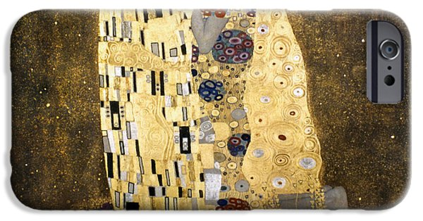 Aod iPhone Cases - Klimt: The Kiss, 1907-08 iPhone Case by Granger