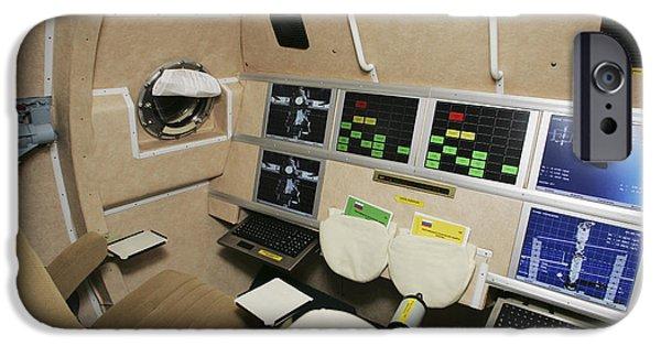Spaceplane iPhone Cases - Kliper Spacecraft Interior iPhone Case by Ria Novosti