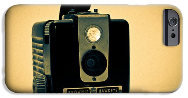 Camera iPhone Cases - Kodak Brownie iPhone Case by Bob Orsillo