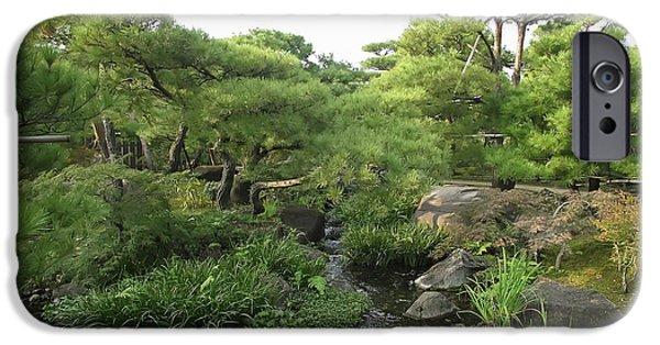 Kobe Photographs iPhone Cases - Kokoen Samurai Gardens - Himeji City Japan iPhone Case by Daniel Hagerman