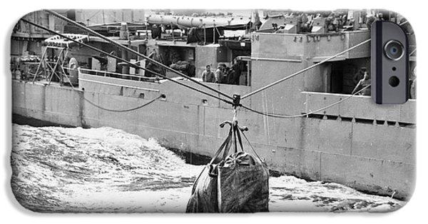 Us Postal Service iPhone Cases - Korean War: Navy Mailbag iPhone Case by Granger