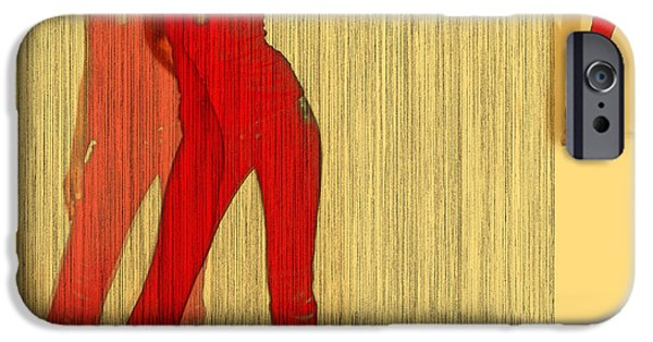Seductive iPhone Cases - Kristine in Red iPhone Case by Naxart Studio