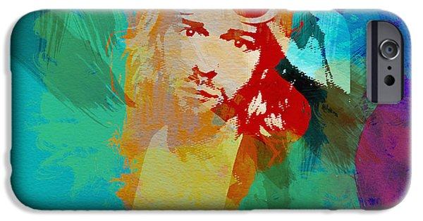 Nirvana iPhone Cases - Kurt Cobain iPhone Case by Naxart Studio