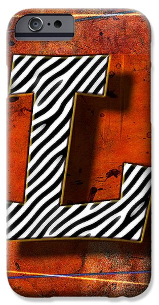 D.c. Pyrography iPhone Cases - L iPhone Case by Mauro Celotti