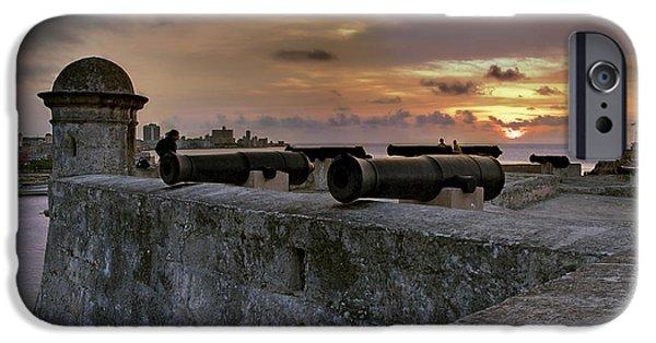 Historic Site iPhone Cases - La Cabana Castle. La Habana. Cuba iPhone Case by Juan Carlos Ferro Duque