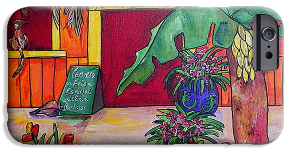 Tropical Paintings iPhone Cases - La Cantina iPhone Case by Patti Schermerhorn