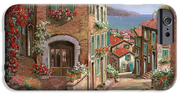 Italy iPhone Cases - La Discesa Al Mare iPhone Case by Guido Borelli