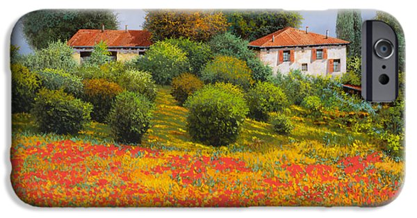 Fields iPhone Cases - La Nuova Estate iPhone Case by Guido Borelli